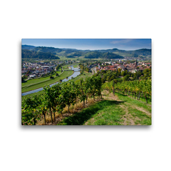 Premium Textil-Leinwand 45 x 30 cm Quer-Format Blick auf Gengenbach | Wandbild, HD-Bild auf Keilrahmen, Fertigbild auf hochwertigem Vlies, Leinwanddruck von Tanja Voigt