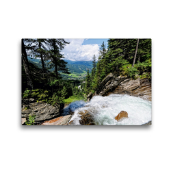 Premium Textil-Leinwand 45 x 30 cm Quer-Format Blick von der Schettkanzel am Krimmler Wasserfälle im Salzburger Land (Österreich)   Wandbild, HD-Bild auf Keilrahmen, Fertigbild auf hochwertigem Vlies, Leinwanddruck von Anja Frost
