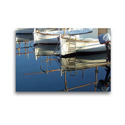 Premium Textil-Leinwand 45 x 30 cm Quer-Format Boote der Kalmarfischer   Wandbild, HD-Bild auf Keilrahmen, Fertigbild auf hochwertigem Vlies, Leinwanddruck von Holger Felix