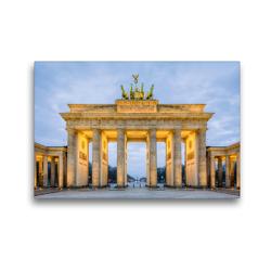 Premium Textil-Leinwand 45 x 30 cm Quer-Format Brandenburger Tor Berlin | Wandbild, HD-Bild auf Keilrahmen, Fertigbild auf hochwertigem Vlies, Leinwanddruck von Michael Valjak