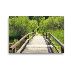 Premium Textil-Leinwand 45 x 30 cm Quer-Format Brücke im Gleißental, Deining | Wandbild, HD-Bild auf Keilrahmen, Fertigbild auf hochwertigem Vlies, Leinwanddruck von SusaZoom