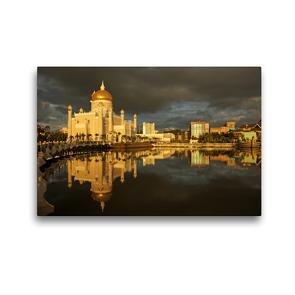Premium Textil-Leinwand 45 x 30 cm Quer-Format Brunei | Wandbild, HD-Bild auf Keilrahmen, Fertigbild auf hochwertigem Vlies, Leinwanddruck von Peter Schickert