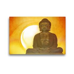 Premium Textil-Leinwand 45 x 30 cm Quer-Format Buddha in aller Stille | Wandbild, HD-Bild auf Keilrahmen, Fertigbild auf hochwertigem Vlies, Leinwanddruck von Claudia Burlager