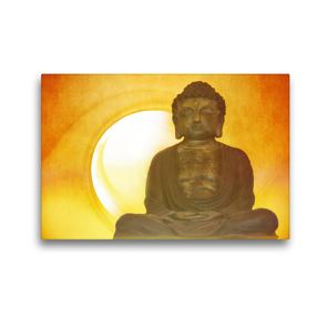 Premium Textil-Leinwand 45 x 30 cm Quer-Format Buddha in aller Stille   Wandbild, HD-Bild auf Keilrahmen, Fertigbild auf hochwertigem Vlies, Leinwanddruck von Claudia Burlager