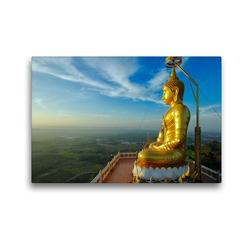 Premium Textil-Leinwand 45 x 30 cm Quer-Format Buddha on Hill at Wat Tham Sua, Krabi | Wandbild, HD-Bild auf Keilrahmen, Fertigbild auf hochwertigem Vlies, Leinwanddruck von Christian Heeb