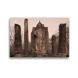 Premium Textil-Leinwand 45 x 30 cm Quer-Format Buddha Statue, Wat Sapham Him, Sukhothai Historical Park, Sukhothai | Wandbild, HD-Bild auf Keilrahmen, Fertigbild auf hochwertigem Vlies, Leinwanddruck von Christian Heeb