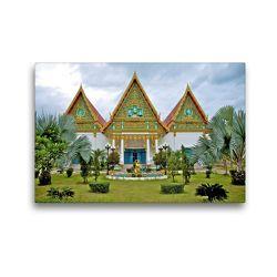 Premium Textil-Leinwand 45 x 30 cm Quer-Format Buddhistische Tempel Anlage   Wandbild, HD-Bild auf Keilrahmen, Fertigbild auf hochwertigem Vlies, Leinwanddruck von Ralf Wittstock