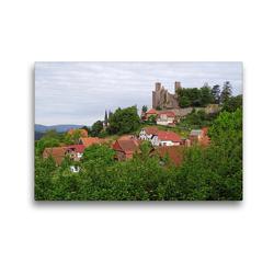Premium Textil-Leinwand 45 x 30 cm Quer-Format Burg Hanstein im Eichsfeld   Wandbild, HD-Bild auf Keilrahmen, Fertigbild auf hochwertigem Vlies, Leinwanddruck von Flori0