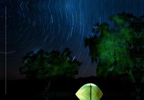 Premium Textil-Leinwand 45 x 30 cm Quer-Format Camping – Namibia | Wandbild, HD-Bild auf Keilrahmen, Fertigbild auf hochwertigem Vlies, Leinwanddruck von Rolf Dietz