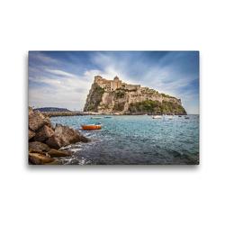 Premium Textil-Leinwand 45 x 30 cm Quer-Format Castello Aragonese auf Ischia, Italien | Wandbild, HD-Bild auf Keilrahmen, Fertigbild auf hochwertigem Vlies, Leinwanddruck von Christian Müringer