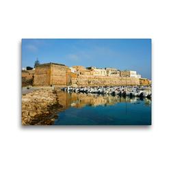 Premium Textil-Leinwand 45 x 30 cm Quer-Format Castello Otranto | Wandbild, HD-Bild auf Keilrahmen, Fertigbild auf hochwertigem Vlies, Leinwanddruck von Martin Rauchenwald