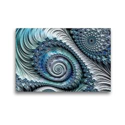 Premium Textil-Leinwand 45 x 30 cm Quer-Format Das blaue Federkleid | Wandbild, HD-Bild auf Keilrahmen, Fertigbild auf hochwertigem Vlies, Leinwanddruck von Claudia Burlager