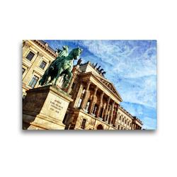 Premium Textil-Leinwand 45 x 30 cm Quer-Format Das wiederaufgebaute Residenzschloss in Braunschweig | Wandbild, HD-Bild auf Keilrahmen, Fertigbild auf hochwertigem Vlies, Leinwanddruck von Reiner Silberstein