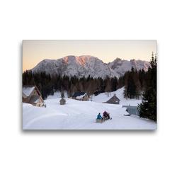 Premium Textil-Leinwand 45 x 30 cm Quer-Format Der Abend kommt   Wandbild, HD-Bild auf Keilrahmen, Fertigbild auf hochwertigem Vlies, Leinwanddruck von Matthias Schaefgen