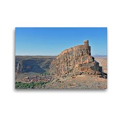 Premium Textil-Leinwand 45 x 30 cm Quer-Format Der Agadir id Aissa zählt zu den eindrucksvollsten Speicherburgen in Marokko | Wandbild, HD-Bild auf Keilrahmen, Fertigbild auf hochwertigem Vlies, Leinwanddruck von Ulrich Senff