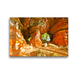 Premium Textil-Leinwand 45 x 30 cm Quer-Format Der Altschlossfelsen | Wandbild, HD-Bild auf Keilrahmen, Fertigbild auf hochwertigem Vlies, Leinwanddruck von LianeM