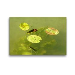Premium Textil-Leinwand 45 x 30 cm Quer-Format Der Ammersee | Wandbild, HD-Bild auf Keilrahmen, Fertigbild auf hochwertigem Vlies, Leinwanddruck von Flori0