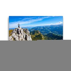 Premium Textil-Leinwand 45 x 30 cm Quer-Format Der Sandkogel 2249m   Wandbild, HD-Bild auf Keilrahmen, Fertigbild auf hochwertigem Vlies, Leinwanddruck von Christa Kramer