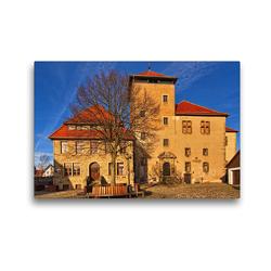 Premium Textil-Leinwand 45 x 30 cm Quer-Format Die Burg | Wandbild, HD-Bild auf Keilrahmen, Fertigbild auf hochwertigem Vlies, Leinwanddruck von Detlef Thiemann / DT-Fotografie