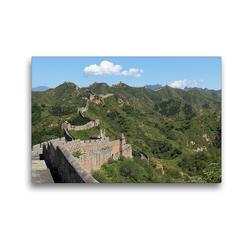 Premium Textil-Leinwand 45 x 30 cm Quer-Format Die Große Mauer bei Jinshanling | Wandbild, HD-Bild auf Keilrahmen, Fertigbild auf hochwertigem Vlies, Leinwanddruck von Roland Brack
