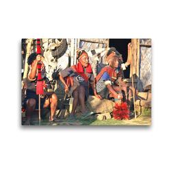 Premium Textil-Leinwand 45 x 30 cm Quer-Format Die letzten Kopfjäger | Wandbild, HD-Bild auf Keilrahmen, Fertigbild auf hochwertigem Vlies, Leinwanddruck von Michael Herzog