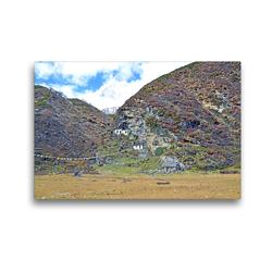 Premium Textil-Leinwand 45 x 30 cm Quer-Format Die Pungyen Gompa nahe des Manaslu bei Samagaon auf 4060 m Höhe ist heute unbewohnt | Wandbild, HD-Bild auf Keilrahmen, Fertigbild auf hochwertigem Vlies, Leinwanddruck von N N