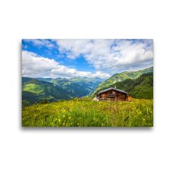 Premium Textil-Leinwand 45 x 30 cm Quer-Format Die Ragglalm in Hüttschlag   Wandbild, HD-Bild auf Keilrahmen, Fertigbild auf hochwertigem Vlies, Leinwanddruck von Christa Kramer