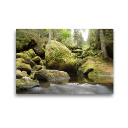 Premium Textil-Leinwand 45 x 30 cm Quer-Format Die Triberger Wasserfälle | Wandbild, HD-Bild auf Keilrahmen, Fertigbild auf hochwertigem Vlies, Leinwanddruck von Flori0