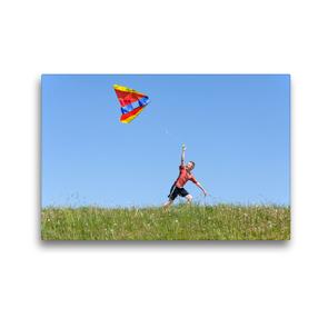 Premium Textil-Leinwand 45 x 30 cm Quer-Format Drachen steigen lassen | Wandbild, HD-Bild auf Keilrahmen, Fertigbild auf hochwertigem Vlies, Leinwanddruck von Siegfried Kuttig