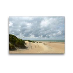 Premium Textil-Leinwand 45 x 30 cm Quer-Format Dünenlandschaft, wie gemalt | Wandbild, HD-Bild auf Keilrahmen, Fertigbild auf hochwertigem Vlies, Leinwanddruck von Susanne Herppich