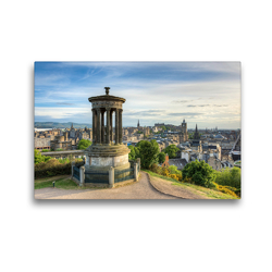 Premium Textil-Leinwand 45 x 30 cm Quer-Format Edinburgh Calton Hill | Wandbild, HD-Bild auf Keilrahmen, Fertigbild auf hochwertigem Vlies, Leinwanddruck von Michael Valjak