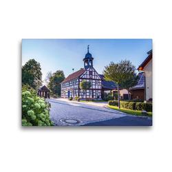 Premium Textil-Leinwand 45 x 30 cm Quer-Format Ehemaliges Gemeindehaus in Rudelsdorf | Wandbild, HD-Bild auf Keilrahmen, Fertigbild auf hochwertigem Vlies, Leinwanddruck von Val Thoermer