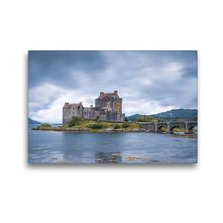 Premium Textil-Leinwand 45 x 30 cm Quer-Format Eilean Donan Castle | Wandbild, HD-Bild auf Keilrahmen, Fertigbild auf hochwertigem Vlies, Leinwanddruck von Harald Schnitzler