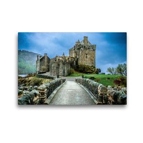 Premium Textil-Leinwand 45 x 30 cm Quer-Format Eilean Donan Castle | Wandbild, HD-Bild auf Keilrahmen, Fertigbild auf hochwertigem Vlies, Leinwanddruck von Holger John