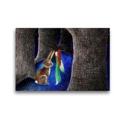 Premium Textil-Leinwand 45 x 30 cm Quer-Format Ein Geheimnis   Wandbild, HD-Bild auf Keilrahmen, Fertigbild auf hochwertigem Vlies, Leinwanddruck von Christine Denorme
