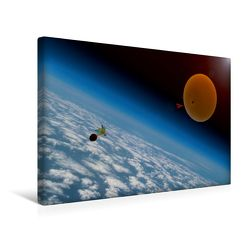 Premium Textil-Leinwand 45 x 30 cm Quer-Format Eine Reise in die Stratosphäre | Wandbild, HD-Bild auf Keilrahmen, Fertigbild auf hochwertigem Vlies, Leinwanddruck von Roland Störmer + Skyrider-Team von Störmer + Skyrider-Team,  Roland