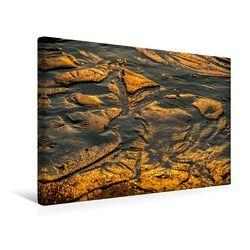 Premium Textil-Leinwand 45 x 30 cm Quer-Format Emotionale Momente: Sylt in Gold. | Wandbild, HD-Bild auf Keilrahmen, Fertigbild auf hochwertigem Vlies, Leinwanddruck von Ingo Gerlach