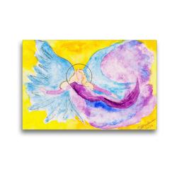Premium Textil-Leinwand 45 x 30 cm Quer-Format Engel der Entspannung   Wandbild, HD-Bild auf Keilrahmen, Fertigbild auf hochwertigem Vlies, Leinwanddruck von Gabriele-Diana Bode