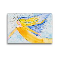 Premium Textil-Leinwand 45 x 30 cm Quer-Format Engel für Weihnachtszeit | Wandbild, HD-Bild auf Keilrahmen, Fertigbild auf hochwertigem Vlies, Leinwanddruck von Gabriele-Diana Bode