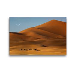 Premium Textil-Leinwand 45 x 30 cm Quer-Format Erg Chebbi, Merzouga, Morocco | Wandbild, HD-Bild auf Keilrahmen, Fertigbild auf hochwertigem Vlies, Leinwanddruck von Christian Heeb
