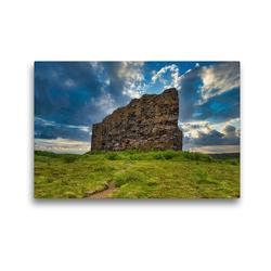 Premium Textil-Leinwand 45 x 30 cm Quer-Format Eyjan Felsen in Asbyrgi | Wandbild, HD-Bild auf Keilrahmen, Fertigbild auf hochwertigem Vlies, Leinwanddruck von Michael Zech Fotografie