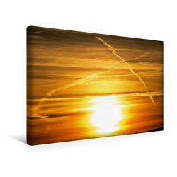 Premium Textil-Leinwand 45 x 30 cm Quer-Format Farbspiele am Himmel | Wandbild, HD-Bild auf Keilrahmen, Fertigbild auf hochwertigem Vlies, Leinwanddruck von Sven Herkenrath