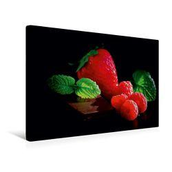 Premium Textil-Leinwand 45 x 30 cm Quer-Format Feine Beeren und süße Schokolade | Wandbild, HD-Bild auf Keilrahmen, Fertigbild auf hochwertigem Vlies, Leinwanddruck von Tanja Riedel