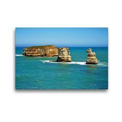 Premium Textil-Leinwand 45 x 30 cm Quer-Format Felsen in der Bay of Islands | Wandbild, HD-Bild auf Keilrahmen, Fertigbild auf hochwertigem Vlies, Leinwanddruck von Ralf Wittstock