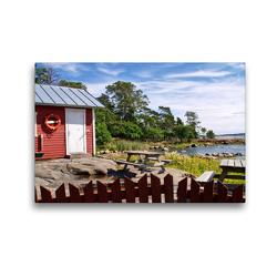 Premium Textil-Leinwand 45 x 30 cm Quer-Format Finnland Sommer   Wandbild, HD-Bild auf Keilrahmen, Fertigbild auf hochwertigem Vlies, Leinwanddruck von Anke Thoschlag
