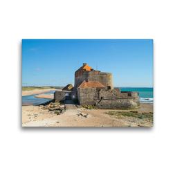 Premium Textil-Leinwand 45 x 30 cm Quer-Format Fort D'Ambleteuse | Wandbild, HD-Bild auf Keilrahmen, Fertigbild auf hochwertigem Vlies, Leinwanddruck von DannyTchi