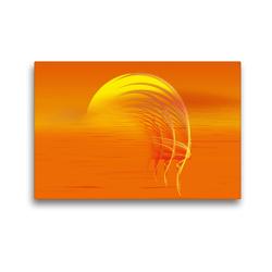 Premium Textil-Leinwand 45 x 30 cm Quer-Format Fraktaler Sonnenaufgang | Wandbild, HD-Bild auf Keilrahmen, Fertigbild auf hochwertigem Vlies, Leinwanddruck von Claudia Burlager