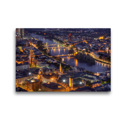 Premium Textil-Leinwand 45 x 30 cm Quer-Format Frankfurt/Main – Fluß Main | Wandbild, HD-Bild auf Keilrahmen, Fertigbild auf hochwertigem Vlies, Leinwanddruck von TJPhotography (Thorsten Jung)