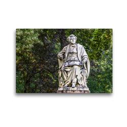 Premium Textil-Leinwand 45 x 30 cm Quer-Format Franz Schubert (1797-1828), Plastik von Carl Kundmann 1872, Wien Innere Stadt | Wandbild, HD-Bild auf Keilrahmen, Fertigbild auf hochwertigem Vlies, Leinwanddruck von Werner Braun