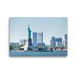 Premium Textil-Leinwand 45 x 30 cm Quer-Format Freiheitsstatue | Wandbild, HD-Bild auf Keilrahmen, Fertigbild auf hochwertigem Vlies, Leinwanddruck von Markus Gann
